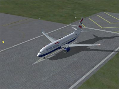 British Airways Boeing 737-300 on runway.