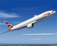 British Airways Boeing 777-200 in flight.