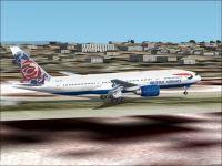 British Airways Boeing 777-200ER taking off.