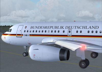 Bundesrepublik Deutschland A319-133X CJ.