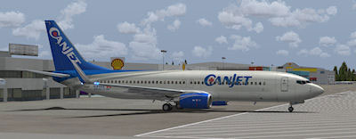 Canjet Boeing 737-800.