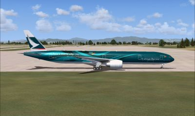 Cathay Pacific Boeing 777-367 ER.