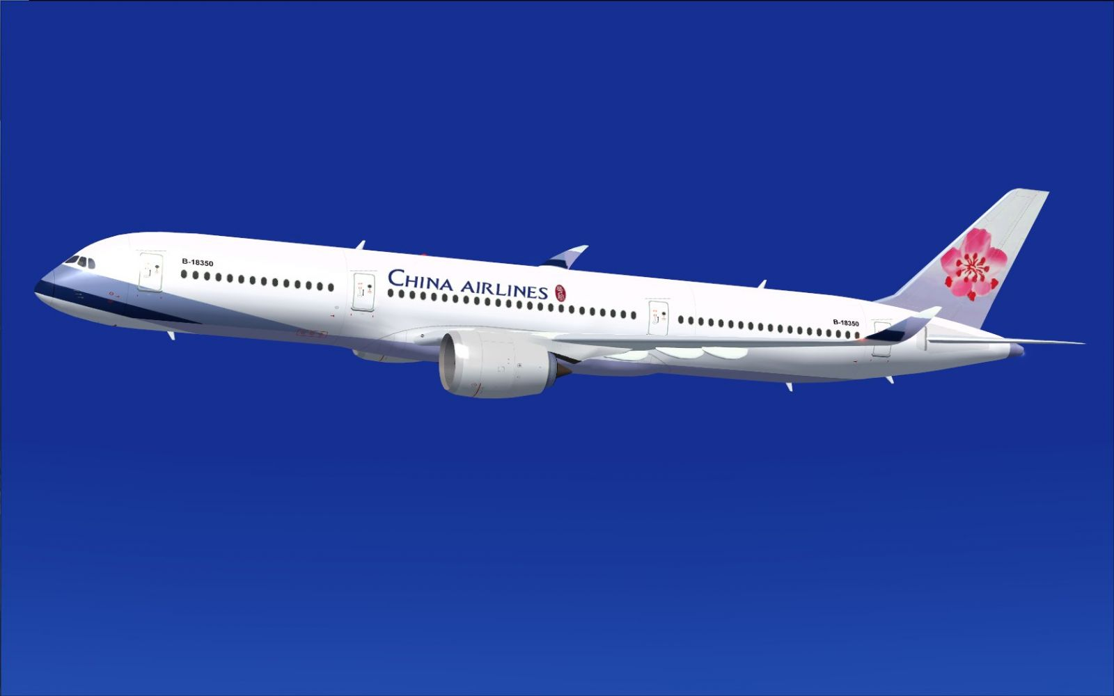 China Airlines Airbus A350 900 Xwb For Fsx