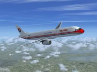China Eastern Airbus A321-231 in flight.