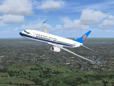 China Southern Boeing 737-800 in flight.