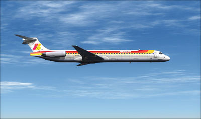 The CLS MD-81/82 Jetliner in Iberia livery for FSX