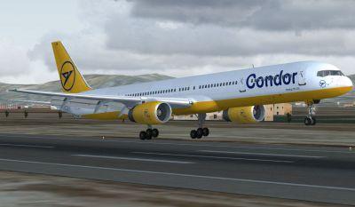 Condor Boeing 757-330 taking off.