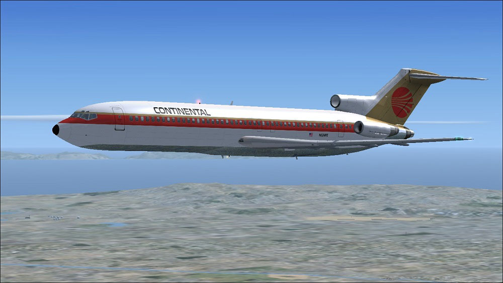 Continental Airlines Plane