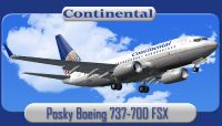 Continental Airlines Boeing 737-700.