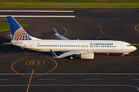 Continental Boeing 737-800W on runway.