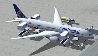 Continental Boeing 787-8.