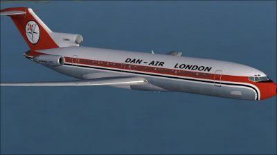 Dan-Air Boeing 727-200 in flight.