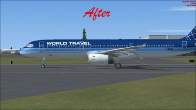 (After) Airbus A321-200 on runway.