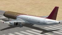 Default Airbus A321 on runway.