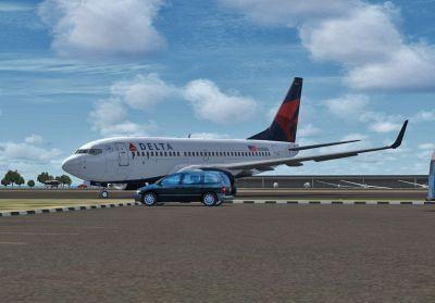 Delta Airlines Boeing 737-700 on runway.