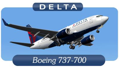 Delta Airlines Boeing 737-700.