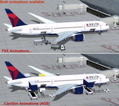 Delta Airlines Boeing 787-8.