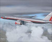 Dominican Airway Boeing 757-200 in flight.