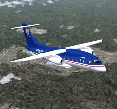 Dornier Do328 JET in flight.