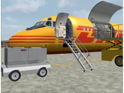 DC-9 in DHL paint