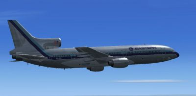 Eastern Airlines L1011 Tristar in flight.