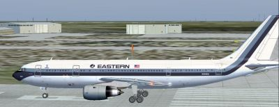 Eastern Airlines Airbus A300-B4 on runway.
