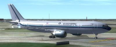 Eastern Airlines Airbus A300 on runway.