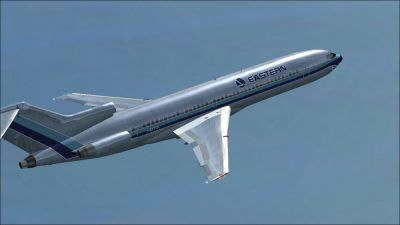 Eastern Airlines Boeing 727-200 in flight.