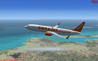 EasyJet Airlines Boeing 737-800 in ascent.