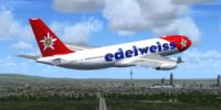 Edelweiss Airbus A330-200 in flight.