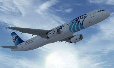 EgyptAir Airbus A321-231 in flight.