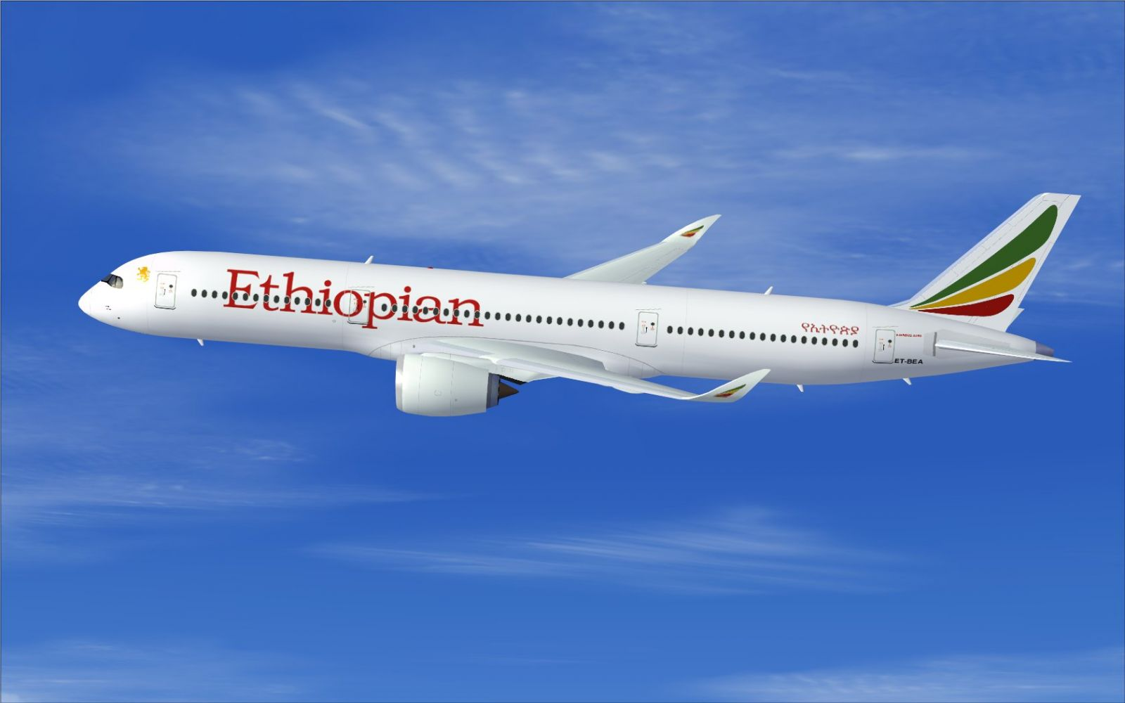 Ethiopian Airlines Airbus A350 900 Xwb For Fsx