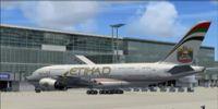 Etihad Airbus A380-800.