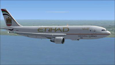 Etihad Crystal Cargo Airbus A300F4-622R in flight.