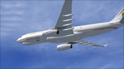Etihad Crystal Cargo Airbus A330-243F in flight.