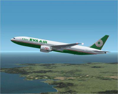 Eva Air Boeing 777-200LR.