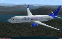 Excel Airways Boeing 737-800 in flight.