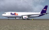 FedEx Airbus A300-600F on tarmac.