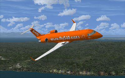Fly 540 CRJ200 in flight.