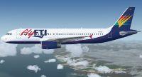 flyFTI Airbus A320-231 in flight.