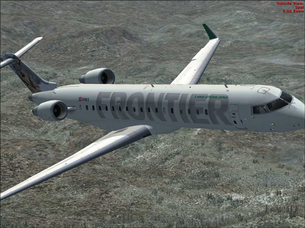 Canadair Regional Jet 200 is a 50 seat jetliner. All textures have