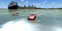 A boat in Microsoft Flight Simulator X