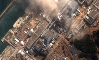 Fukushima-Daiichi nuclear plant after explosion