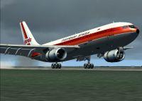 Garuda Indonesian Airways Airbus A300B4-200FFCC taking off.