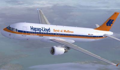 Hapag Lloyd Airbus A320-200.