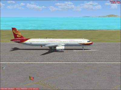 Hong Kong Airlines Airbus A321 on runway.