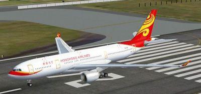 Hong Kong Airlines Airbus A330-200 on runway.