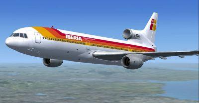 Iberia Lockheed L1011 Tristar in flight.