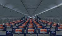 Class Cabin of Icelandair Boeing 767-300.