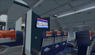 View from Seat 5B in Icelandair Boeing 767-300.